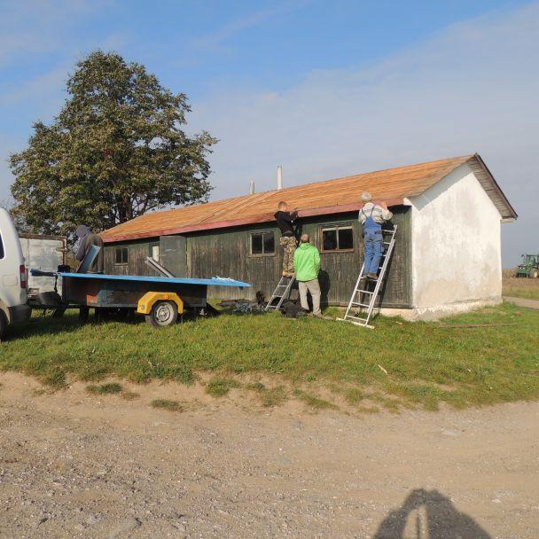 Oprava poľovníckej chaty - 2014