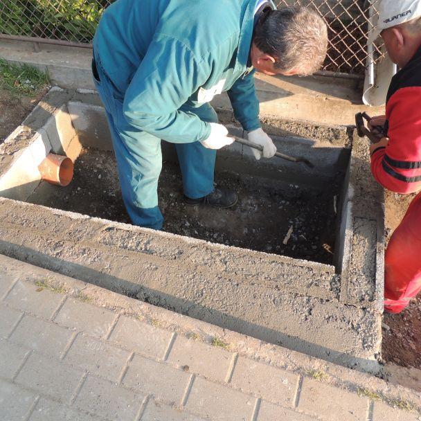 Oprava odvodnenia Malý Báb - 2015