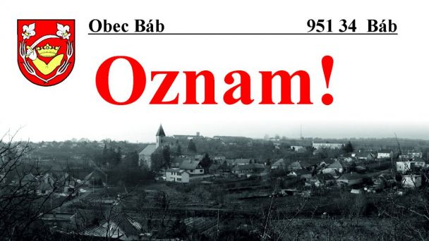 Oznam!